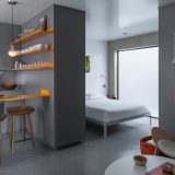 interior apartemen - contemporary-bedroom